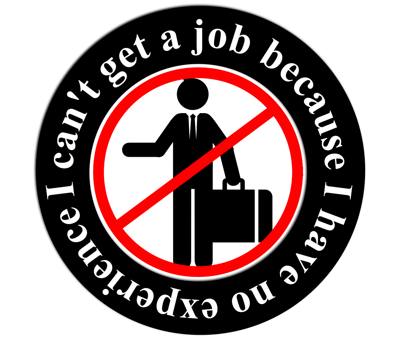 "stick figure: ""I can't get a job because I have no experience"""